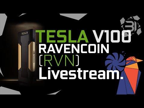 Tesla V100's RavenCoin (RVN) Benchmark LIVESTREAM