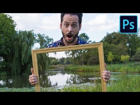 How to Create a See-Through Frame Effect