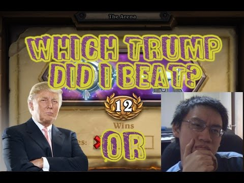[Hearthstone] - Which Trump did I beat in the Arena? watch until the end to find out