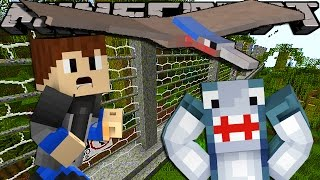 Minecraft Adventure - Sharky and Scuba Steve - SAVING JURASSIC PARK