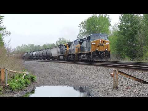 CSX K679 Denatured Alcohol Train At Bayview In Hamburg, NY 5-27-17