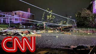 See destruction after violent tornado rips through Jefferson City, Missouri