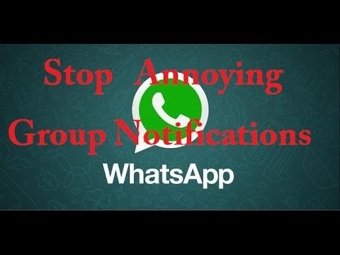 How to Mute / Disable Notifications of a Group in Whatsapp without leaving the group!!!