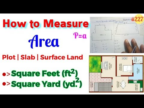 How to Measure Plot, Slab, Land Area in Square Feet and Square yard || Measurement of Land in Sqft