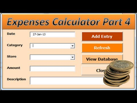 VBA Excel - Expenses Calculator Project Part 4- Budget