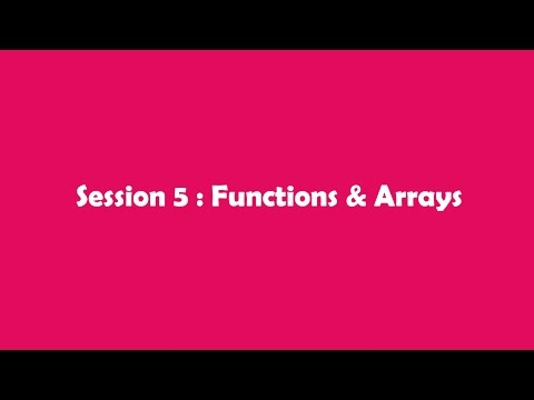JavaScript In Tamil - Session 5: Functions & Arrays Part I