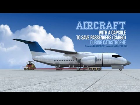 Aircraft with a capsule to save passengers (cargo) during catastrophe