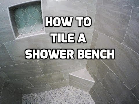 Tile a Shower Bench Like a Professional
