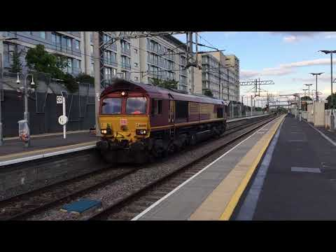 2 Class 66's Passing Hayes & Harlington