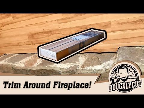 Cut laminate flooring against uneven fireplace!