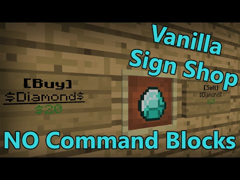 1.9+ Sign Shops in Vanilla Minecraft