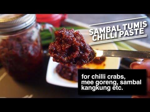 How to make Sambal Tumis // Versatile Chilli Paste for Chilli Crab, Mee Goreng & More!
