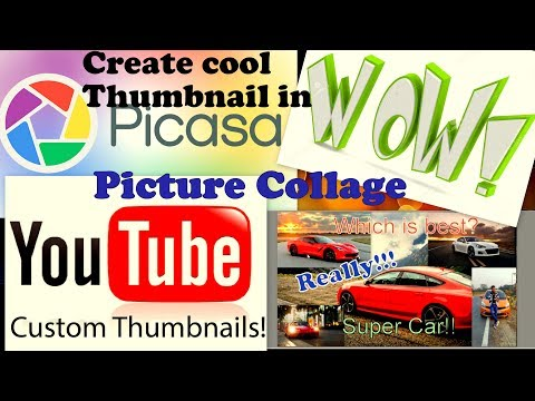 [Hindi]How to create COOL Thumbnail  in Picasa| Picture Collage| Picasa Tutorial #1