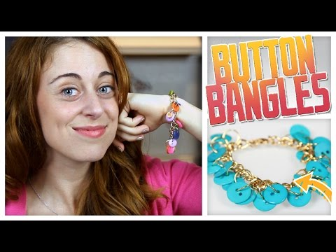 DIY Button Bangle Bracelet! - Do It, Gurl