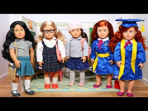 Dressing all my dolls in Our Generation School Outfits