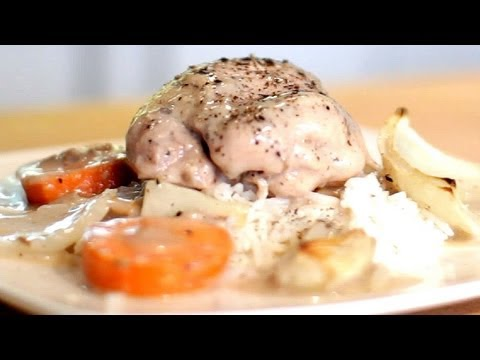 Cream of Mushroom Soup Chicken Thighs | The Hungry Bachelor