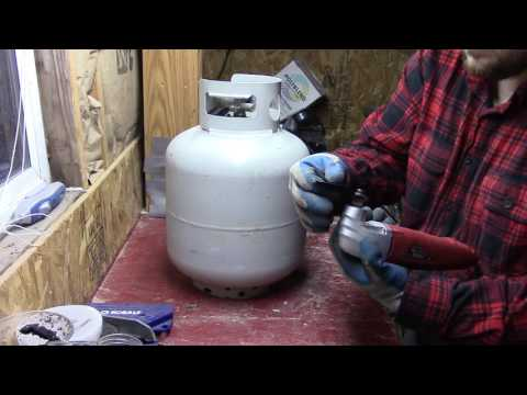 Turning a 20 lb Propane Tank into a Wood Stove