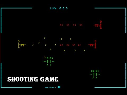 Shooter Game made using C without Graphics