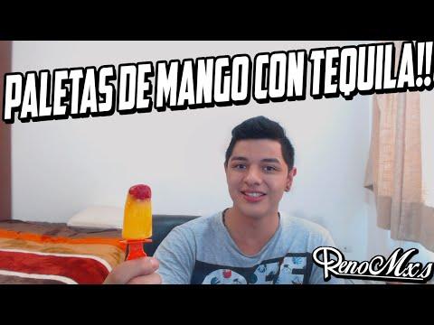 PALETAS DE MANGO CON TEQUILA   RENO TE ENSEÑA