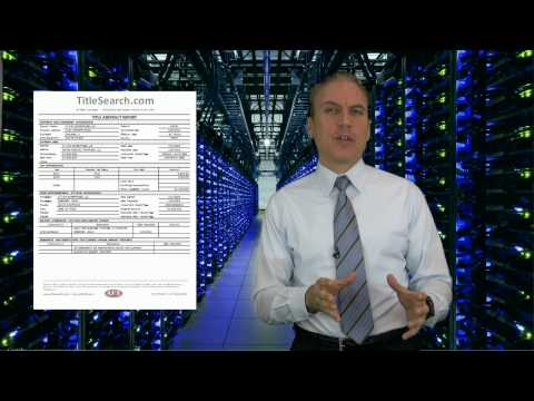 What do you receive when you get a title search completed by a certified title abstractor? | AFX