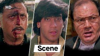 Climax Scene | Ajay Devgn | Pran | Gulshan Grover | Kanoon | 90's Movie Action Scene