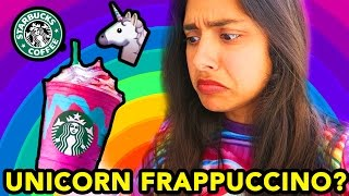 TRYING THE UNICORN FRAPPUCCINO FROM STARBUCKS