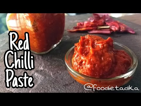 Red chilli paste| how to make red chilli paste | by Foodie Tadka