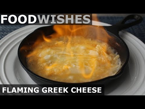 Flaming Greek Cheese! Food Wishes - Saganaki