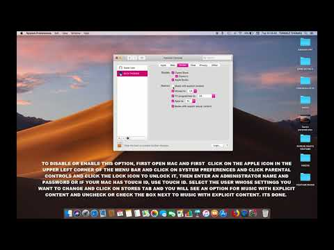 HOW TO ENABLE OR DISABLE MUSIC WITH EXPLICIT CONTENT IN PARENTAL CONTROLS IN MAC OS MOJAVE