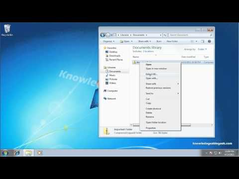 How to Unzip a File or Folder in Windows 7