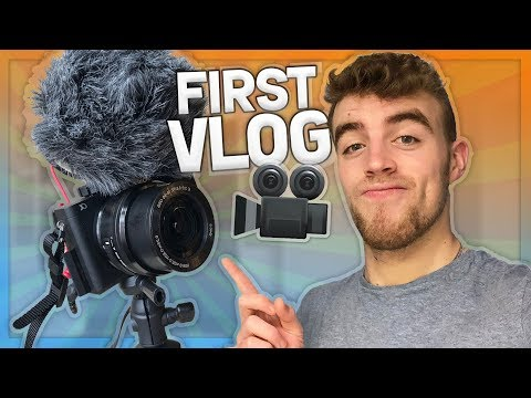 MY FIRST VLOG! (& unboxing my new camera)