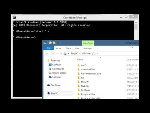 How To Open The C Drive With Only The CMD Prompt