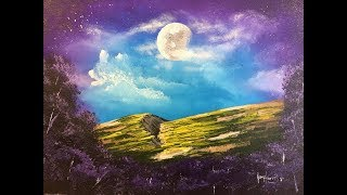 How to paint a moon scene in acrylic high moon mp3