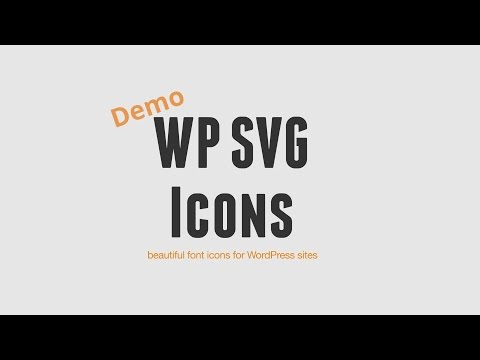 WP SVG Icon: Beautiful Icons for WordPress Sites
