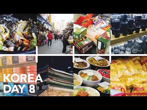 Namdaemun Market and Lotte Mart (More FOOD) - Korea Day 8