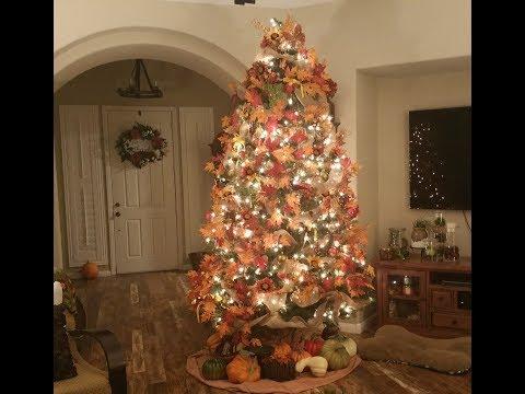 Time Lapse Fall/Thanksgiving Style Christmas Tree aka Harvest Tree 2017