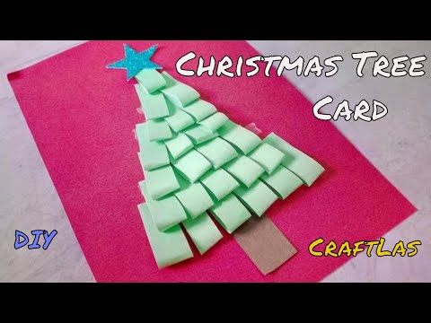 How To Make Christmas Tree Out Of Paper | Kids Christmas Craft | CraftLas