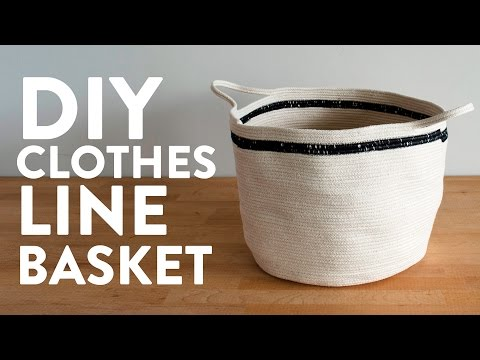 DIY Simple Clothesline Basket