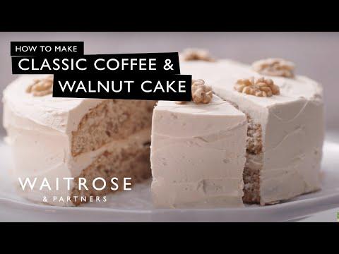 Classic Coffee and Walnut Cake | Waitrose