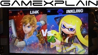 Super Smash Bros. Ultimate 1 vs 1 Gameplay - Inkling vs. Champion Link on Great Plateau Tower