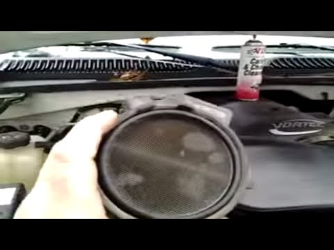 How to Clean  a Mass Air Flow Sensor -CRC MAF CLEANER  on 2004 gmc sierra