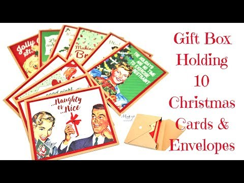 Christmas Cards and Gift Box using the Envelope Punch Board
