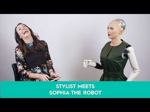 Stylist meets Sophia the robot