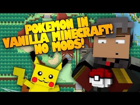 POKEMON IN VANILLA MINECRAFT! NO MODS! (Minecraft Redstone)