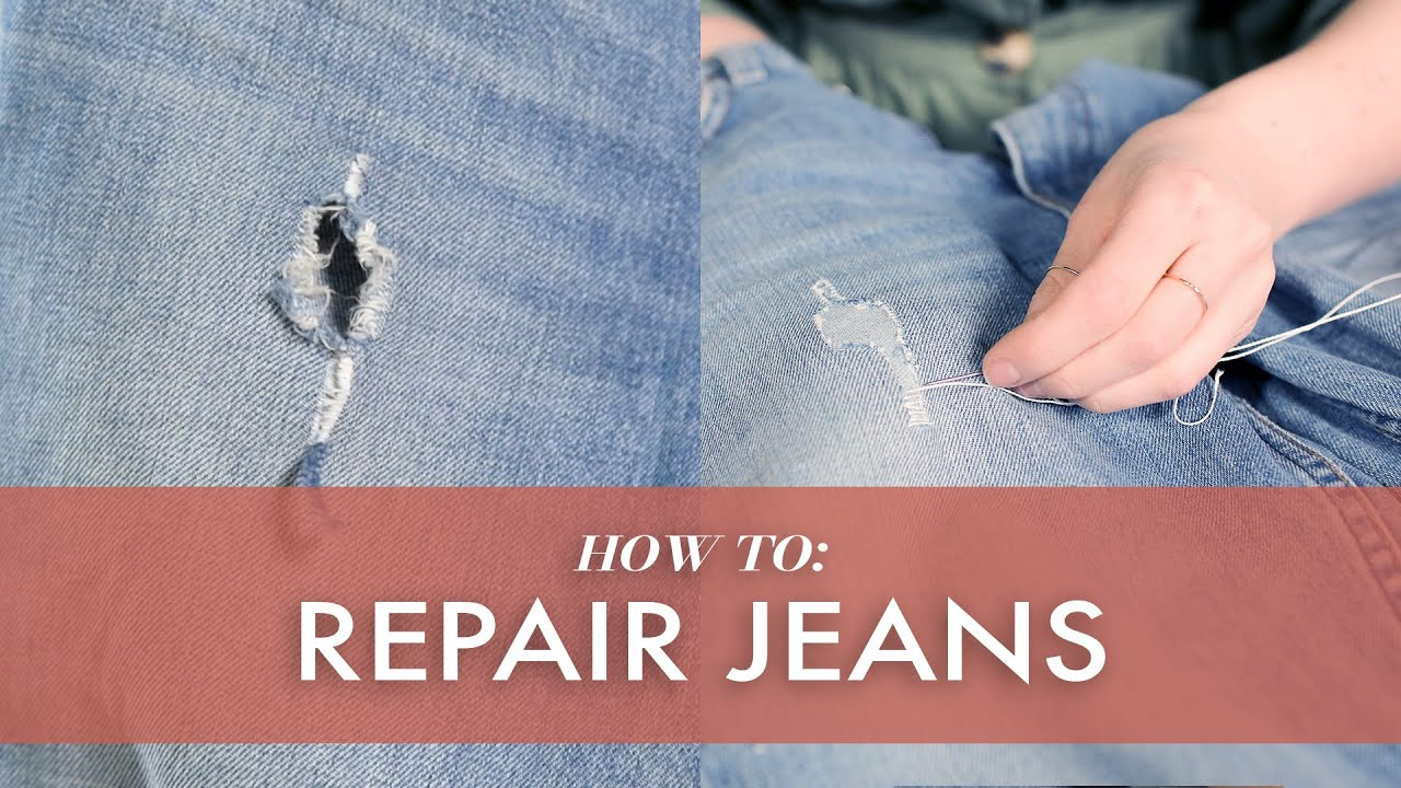 How To Repair Ripped Jeans 3 Ways
