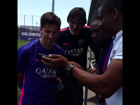 Lionel Messi listening to Jah Cure's music