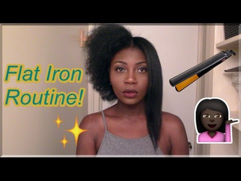 Updated Flat Iron Routine: How To Straighten Type 4 Natural Hair