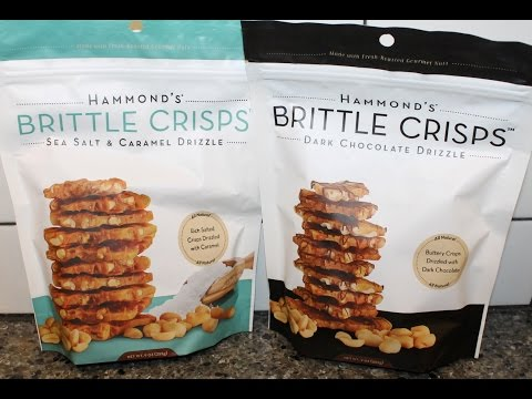 Hammond's Brittle Crisps: Sea Salt & Caramel and Dark Chocolate Drizzle Review