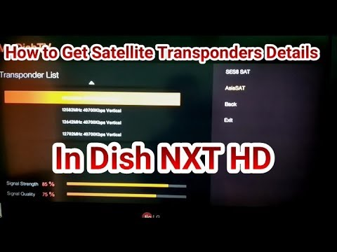 How to Get Details of Satellite Transponders in Dish NXT HD Set Top Box (Must Watch)