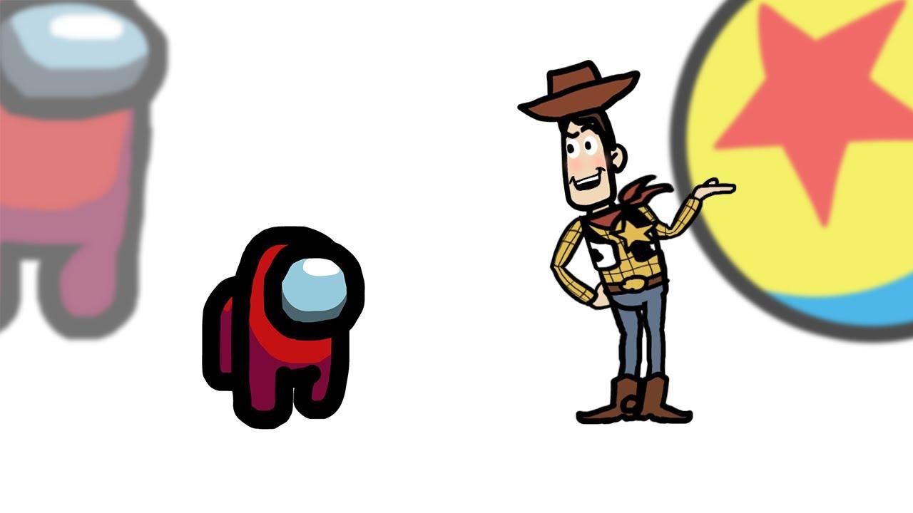 Mini Crewmate Kills 12 Toy Story Characters | Among Us